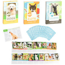 Wild Animal Flash Card Game Book For Kids Educational Learning Cats Dogs Babies
