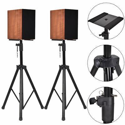2 in 1 Speaker Stands Heavy Duty Adjustable Studio Monitor