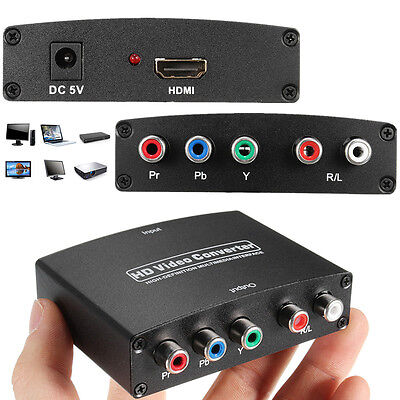 1080P HDMI to RGB Component 5RCA YPbPr Video + R/L Audio Converter Adapter HD TV