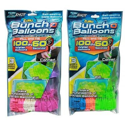 Lot of 4x A Bunch OF Water Balloons 100 Self-Sealing Water Ballons 400 - Water Ballons