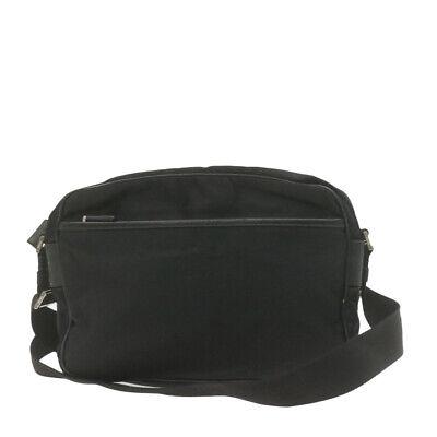 FENDI Nylon Shoulder Bag Black Auth ar3744