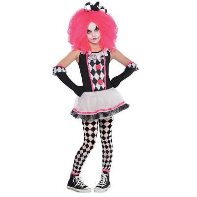 Clown Harlekin Gr. 134 158 Hofnarr 4tlg Kostüm Karneval Mädchen Fasching Kinder (Narr Kinder Kostüme)