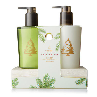 Thymes Frasier Fir Ceramic Sink Set Hand Wash and Lotion Duo 8.25 oz each Sealed - Frasier Fir Hand Lotion