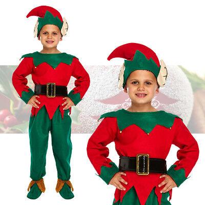 Boys Deluxe Elf Costume Fancy Dress Cute Santa's Little Helper Christmas Outfit - Cute Santa Girl Costumes