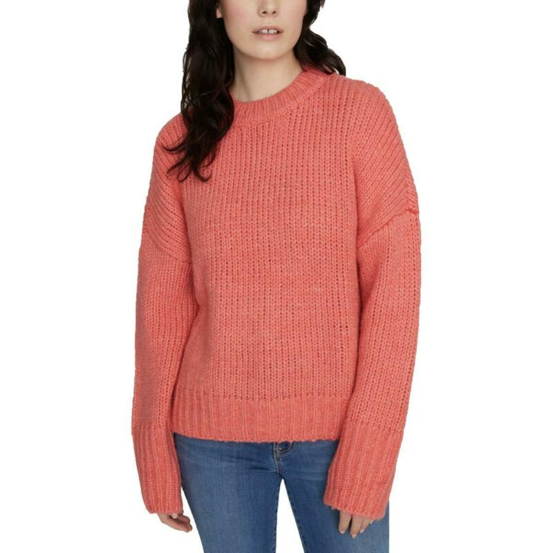 Sanctuary Womens Telluride Pullover Cable Knit Crewneck Sweater Top BHFO 0518