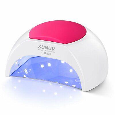 Lámpara de uñas, 48W UV LED Luz de secador de uñas para uñas de gel Manicura pol