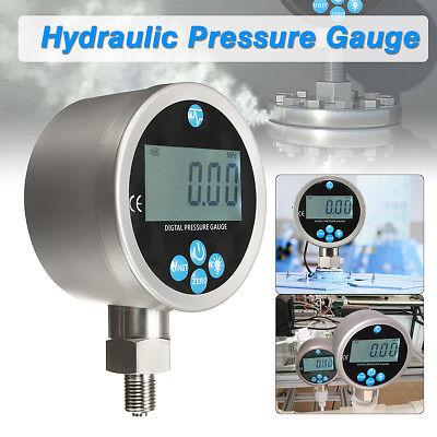 400bar Digital Display Oil Hydraulic Pressure Gauge Test Meter 80mm 0-40mpa