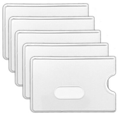 5x Schutzhülle Kreditkarte EC-Karte Hartplastik Personalausweis Kartenhülle