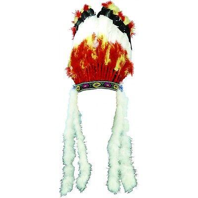 Native American Headdress Costume Headpiece Adult Indian Fancy Dress - Costume Headpiece