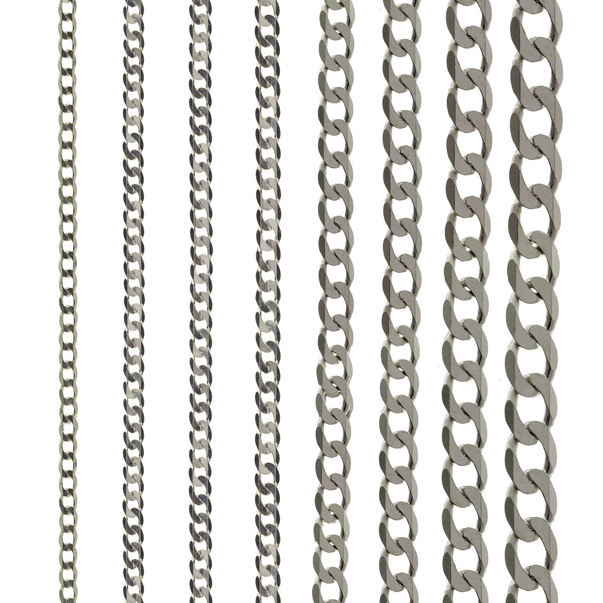"""925 STERLING SILVER 16/"""" SOLID 3.2MM DIAMOND CUT D//C CURB LINK CHAIN NECKLACE"""
