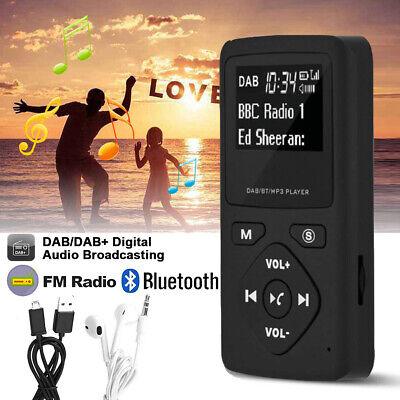 Mini Pocket DAB/DAB+ Digital FM Radio mit Bluetooth MP3 Player Headphone