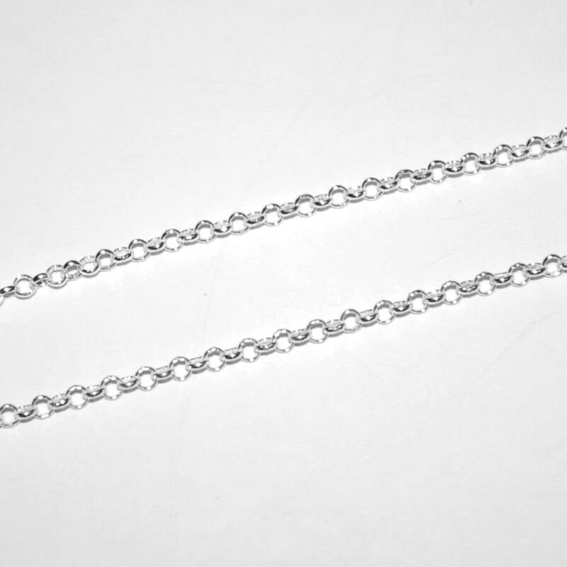 """3 pieces 18"""" 45cm 925 Sterling Silver 3mm ROUND ROLO BELCHER Chain Necklaces Lot"""