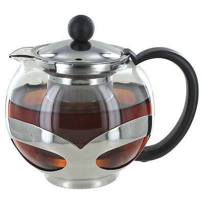 Glass Teapot with Stainless Steel Infuser - 25oz