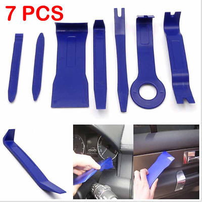 (Car Door Trim Removal Tool Pry Panel Dash Radio Body Clip Installer Kit 7PCS Set)