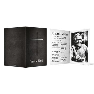 Trauer Dankeskarten Danksagung Trauerkarten individuell - Bibel Look