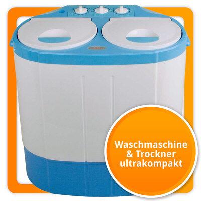 Mini Waschmaschine 24L mit Schleuder / Trockner Waschtrockner für Single & Reise ()