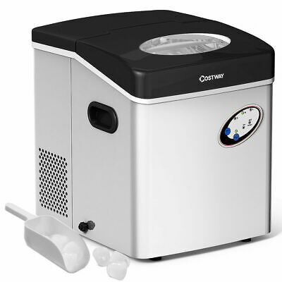 Stainless Steel Ice Maker Countertop 48lb Per Day Freestandi