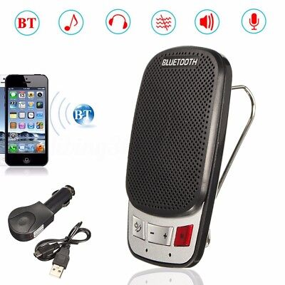 Car Sun Visor Wireless Handsfree Multipoint Bluetooth Speakerphone Speaker Kit