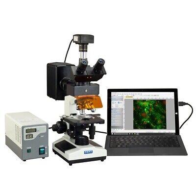 Omax 40x-2500x Usb3 14mp Digital Epi-fluorescence Compound Trinocular Microscope