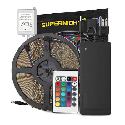 SUPERNIGHT® 10m 5050 RGB 600 LED Light Strip Waterproof+24K