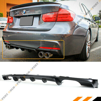 FOR 2012-18 BMW F30 F31 M SPORT MP STYLE QUAD EXHAUST TIP REAR BUMPER DIFFUSER