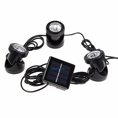 Blue Led Spotlight (Solar Powered Submersible Pond Spotlight Underwater 3x6 LED Blue Outdoor)