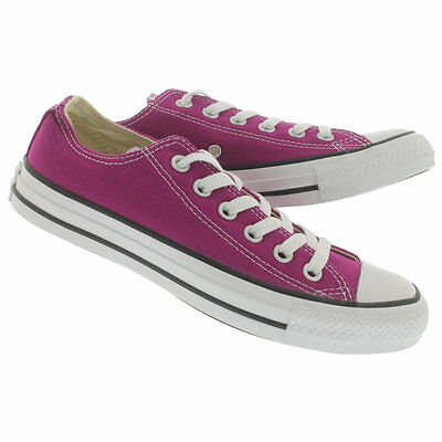 2015 Converse Womens Chuck Taylor OX All Star Low Trainers Shoes - Pink (Converse Chuck Taylor All Star Slim Ox Trainers)