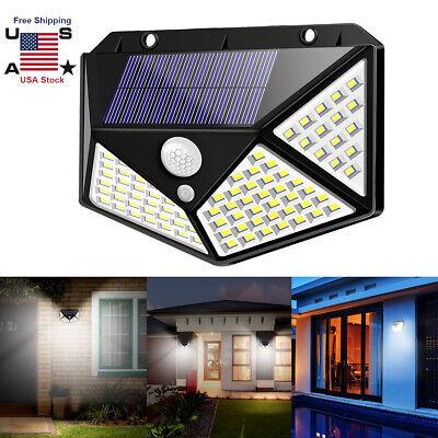 Outdoor 100 Led Solar Wall Lights Security Motion Sensor Garden Yard Path Lamp