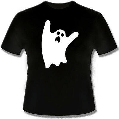 GLOW IN THE DARK Ghost Funny T Shirt Tshirt for Halloween costume - Glow In The Dark T-shirts For Halloween