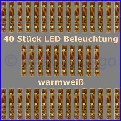 S332-40 Piezas LED Iluminación 5cm Blanco Cálido Casas Carros RC Modelos y...