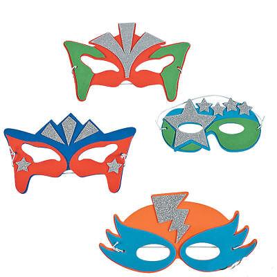12 Superhero FOAM MASKS Kid's Boy's Birthday Party Costume Favors TOYS (Superhero Foam Masks)