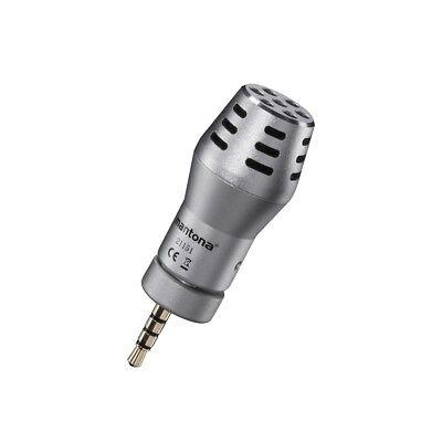 mantona Mikrofon für Smartphone, Kondensatormikrofon, gute Klangqualität