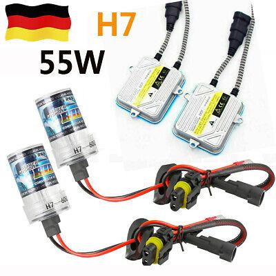 55W HID Xenon Umrüstkit Canbus 6000K Scheinwerfer H7 Birnen Vorschaltgeräte online kaufen