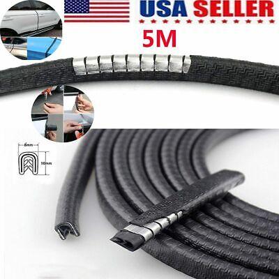 5M Car Rubber Seal Trim Molding Strip Door Window Edge Lock Protector Guard US