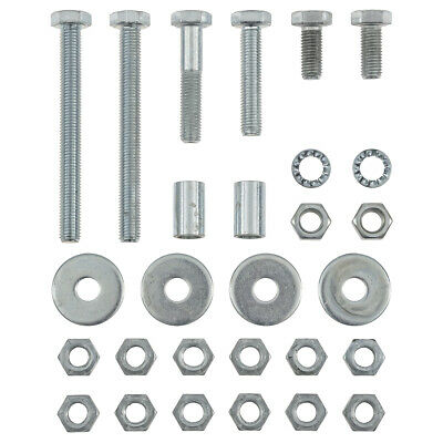 Jaguar E-Type Steering rack Hardware kit 28 pc Manual Bolts Spacers Washers Nuts