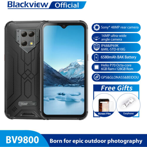 Blackview BV9800 48MP Kamera Smartphone 6+128GB Wasserdicht Drahtlose Lade Handy