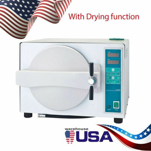 18L Dental Medical Autoclave Sterilizer with Drying Function Full Automatic US