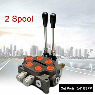 2 Spool Double Acting Hydraulic Valve 25gpm Hydraulic Directional Control Valve