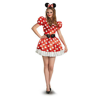 Classic Minnie Mouse Costume (Minnie Mouse Classic Red Adult Costume Clubhouse Disney | Disguise)