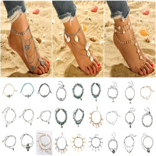 Fashion Women Ankle Bracelet Adjustable Anklet Chains Foot B