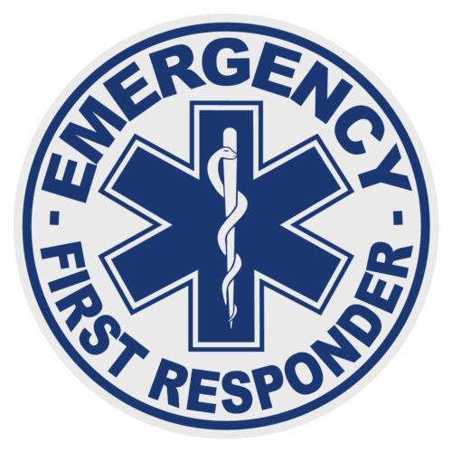 Emergency First Responder Medium Round Reflective Firefighter Decal Sticker