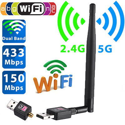 600 Mbps Dual Band 2 4 5Ghz Wireless Usb Wifi Network Adapter W Antenna 802 11 N