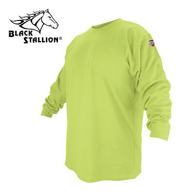 Black Stallion Ftl6-lim Lime Flame Resistant Cotton Long-sleeve T-shirt Large