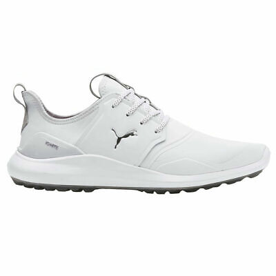 PUMA GOLF IGNITE NXT WATERPROOF GOLF SHOE WHITE/SILVER/GREY SPIKELESS SUMMER