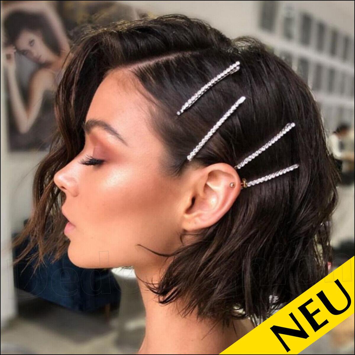 NEU 🌸 Glitzer HAARKLAMMER Kristall STRASS Silber PARTY Modeschmuck 🌸 Fashion