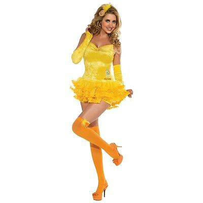 Halloween Classic Cartoons (Tweety Bird Costume Womens Looney Tunes Classic Cartoon Halloween Fancy Dress)