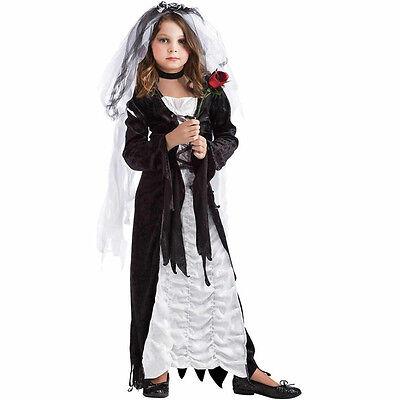 Bride of Darkness WITCH VAMPIRE Costume Kids M SIZE 8-10 Gothic Halloween Dress](Kids Bride Costume)