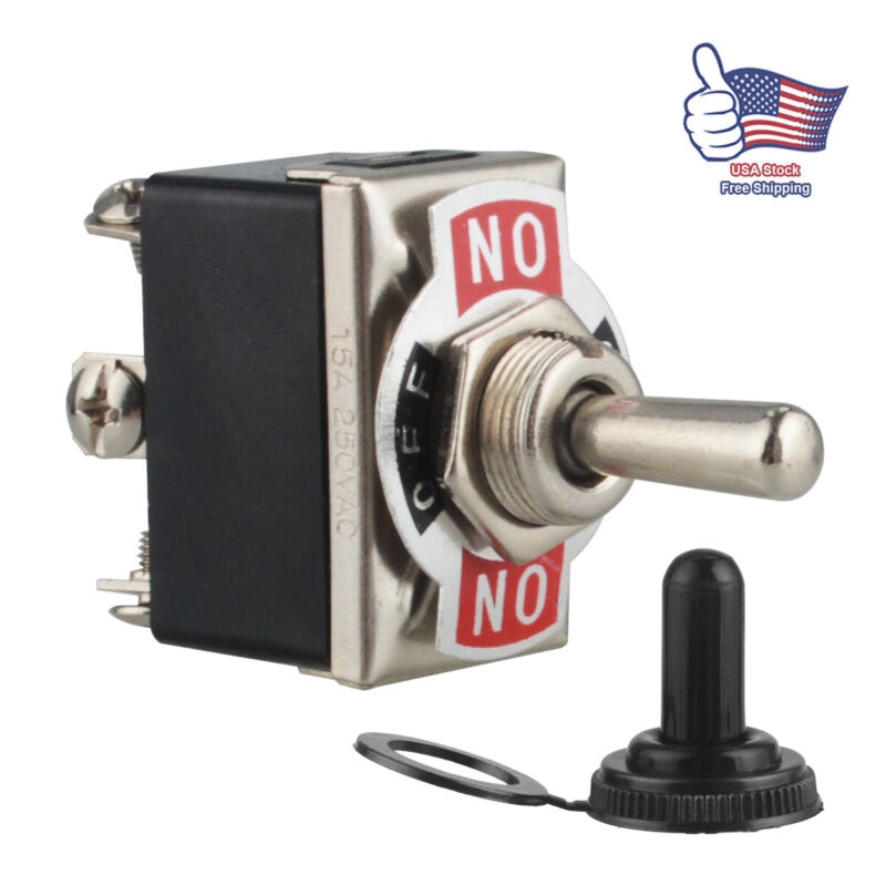Heavy Duty 20A 125V Toggle Switch Control DPDT 2 Pole Double Throw 6 Term On/Off