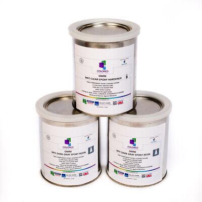 Dark Gray Epoxy Resin 100 Solids For Garage Floorplywoodconcrete.3 Quart Kit