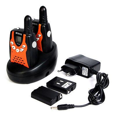 Retevis RT-602 UHF PMR 446MHz 8 Kanäle Walkie-Talkie+Tracking für Kinder orang